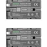 Neewer 2個 2600mAh Sony NP-F550/570/530交換用バッテリー Sony Handycams、Neewer Nanguang CN-160、CN-216、CN-126シリーズと他のNP-F550を使うLEDカメラビデオラ