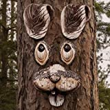 Jacriah Funny Rabbit Tree Hugger, Yard Art Decorations Tree Faces Outdoor Decor Garden Art Decorations