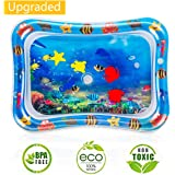 Water Play Mat, 7 Upgrade [2019 New] Inflatable Infant Baby Toys & Toddlers Fun Activity Play Center for Boy & Girl Growth Br