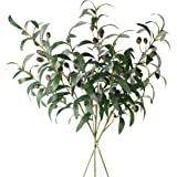 """Jasming 28"""" Olive Artificial Branches Fake Fruits Leaves Green Plants for Office Crafts Room Decoration,Pack of 5 3pcs"""