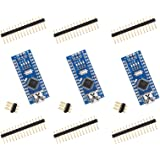 ELEGOO for Arduino Nano V3.0, Nano Board CH340/ATmega328P Without USB Cable, Compatible With Arduino Nano V3.0 (Nano x 3 With