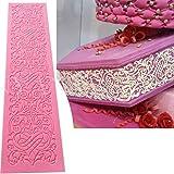 Anyana Edible Wedding lace Cake Silicone Baking lace Mat Fondant Impression Texture lace Decorating Mold Sugar Craft Icing Ca