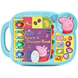 VTech 80-518000 Peppa Pig Learn & Discover Book,Blue