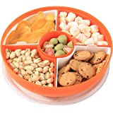 XKXKKE Divided Serving Dishes with Lid,Serving Bowls,Multifunctional Party Snack Tray for Fruits,Nuts,Candies,Crackers,Veggie
