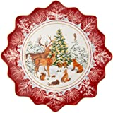 Villeroy & Boch Pastry Plate Large Forest Animals, Multicoloured, 42 x 42 x 2 cm