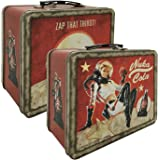 Numskull FWFO 3012 Fallout 4 Tin Tote Nuka Cola Lunch Box, Red