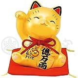 薬師窯 彩耀お金招き猫(金) AM-Y7375