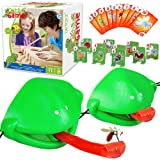 Kids Games, Tic Tac Tongue Game - Family Board Games for Kids Ages 4, 5, 6, 7, 8, 9, 10 Year Old Boys Girls, Games for Kids A