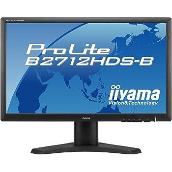 iiyama 27インチワイド液晶ディスプレイ 1920×1080(フルHD1080P) 対応 3系統入力装備 昇降スタンド付き マーベルブラック PLB2712HDS-B1