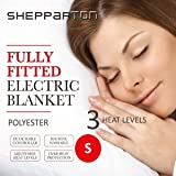 Heated Electric Blanket Washable Fully Fitted Polyester Underlay Warm Bed Single