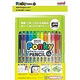 三菱鉛筆 色鉛筆 ポンキーペンシル 12色 K800PK12CLT