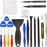 Kaisi Professional Electronics Opening Pry Tool Repair Kit with Metal Spudger Non-Abrasive Carbon Fiber Nylon Spudgers and An