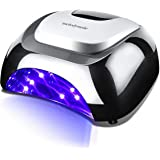 MelodySusie 48W LED Nail Lamp - Smart Gel Nail Dryer with 3 Timer Controls fast Curing LED Gel Nail Polish (Black)