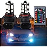 NEWカラー! 新型 LED フォグ バルブHB3 5050SMDチップ27連 RGB DC12V リモコン コントローラー付 バックランプ テールランプ  2個セット