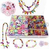 Bead Kits for Jewelry Making - Craft Beads for Kids Girls Jewelry Making Kits Colorful Acrylic Girls Bead Set Jewelry Craftin