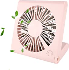 Lalabuy 折りたたみ式 携帯扇風機 3階段風量調節 USB充電+乾電池 13枚羽根 静音超強風 ミニ扇風機 手持ち ファン卓上扇風機 猛暑対策 プレゼント