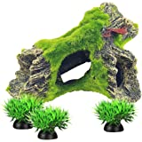 Fish Tank Decorations Aquarium Decoration Small-Size Ornaments Accessories Fish Hides Artificial Moss/Driftwood (B-Type)