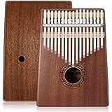 Anordsem Kalimba 17 Keys Finger Thumb Piano,Mbira,Solid Mahogany Body - with Calibrating Tune Hammer and Storage Bag