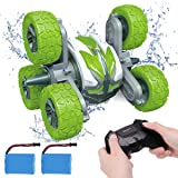 KaeKid 6WD Remote Control Stunt Car for Boys 8-12, Amphibious RC Cars with 2.4GHz High-Speed Double Sided 360° Rotating Off-R