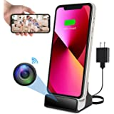 Hidden Camera Charger Dock for iPhone WiFi Live View Spy Cam with Motion Detection for Office Home Security (iOS iPhone Charg