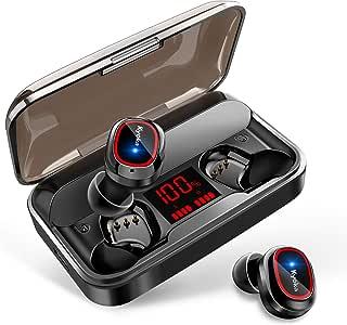 【最新Bluetooth5.1技術 瞬時接続】 Bluetooth イヤホン HiFi高音質 350時間連続駆動 LED電量表示 左右分離型 軽量 両耳 CVC8.0イズキャンセリング 蓋を開けて瞬間ペアリング ワイヤレスイヤホン 自動ペアリング 4000mAh充電ケース IPX7防水 音量調節 完全 ワイヤレス イヤホン &AAC対応 ブルートゥース イヤホン 技適認証済 日本語提示 iPhone/iPad/Android対応 (レッド)