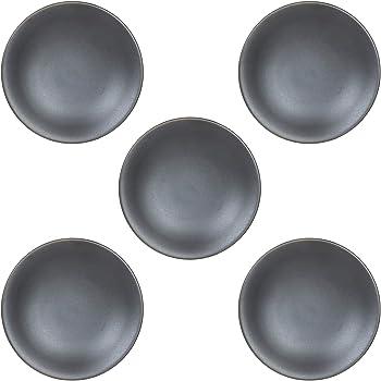 5個セット 小皿 黒映3.0皿(マット) [9.8 x 1.8cm] 【料亭 旅館 和食器 飲食店 業務用 器 食器】