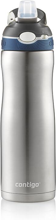 Contigo AUTOSPOUT Straw Ashland Chill Stainless Steel Water Bottle, 20oz, Monaco