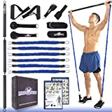 INNOCEDAR Home Gym Bar Kit with Resistance Bands,Portable Gym Full Body Workout,Adjustable Pilates Bar System,Safe Exercise W