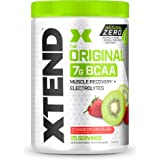 XTEND Natural Zero BCAA Powder Strawberry Kiwi | Free of Artificial Sweeteners, Flavors, and Chemical Dyes | Post Workout Dri
