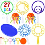 INNOCHEER Bubble Wands Set, 27 Pack Big Bubble Wands Toy Set Large Bubble Wand Bulk for Kids, Assortment of Bubble Wands for