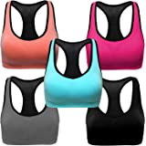 3-Pack Women's Seamless Wireless Sports Bra Genie Sleep Bra with Removable Pads