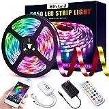 Elfeland LED Strip Lights 16.4ft LED Light Strip SMD5050 RGB Tape Lights Color Changing Rope Lights Work with App Sync with M