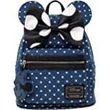 Loungefly Minnie Mouse Denim Polka Dot Mini Backpack
