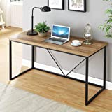 FOLUBAN Computer Desk, Rustic Computer Table for Home Office, Modern Study Table, Oak 55 inch