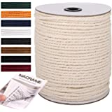NOANTA Macrame Cord 5mm x 145Yards, 100% Natural Cotton Macrame Rope Cotton Cord, Perfect Macrame Supplies for Wall Hanging,