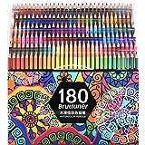 水溶性180色鉛筆セット 画材セット 絵の具 アート鉛筆 塗り絵 美術 描き用 スケッチ用 プレゼント用 写生 透明ケース包装 学校教材 入学 文房具 子供、学生、大人向け 良い贈り物