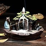 倒流香 香炉 セラミック お香 ホルダー 香炉用品 陶器 桂林の景観