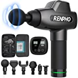 RENPHO Massage Gun, Muscle Massager, Powerful Percussion Massager Handheld with Portable Case for Athletes, Back Neck Shoulde