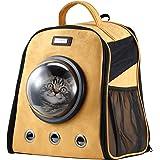 Petscene Cat Bubble Backpack Pet Carrier Kitten Puppy Travel Bag Orange