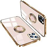iPhone 12 ケース/iPhone 12 Pro ケース リング付き TPU 薄型 軽量 耐衝撃 携帯カバー スタンド機能 落下防止 アイフォン12 /アイフォン12 Pro ケース 6.1 インチ(iPhone12/iPhone12Pro ケ