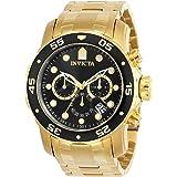 [インビクタ] 腕時計 Pro Diver 石英 48mm ケース ゴールド ステンレス鋼ストラップ ブラックダイヤル 0072 メンズ 正規輸入品