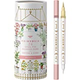 Primrosia 24 Pastel Dual Tip Marker Pens, Fineliner and Brush Tip