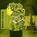 Gon and Killua Figure 3D Night Light Anime Hunter X Hunter Nightlight for Kid Bedroom Decor Lighting Child Gift HxH Lamp Beds