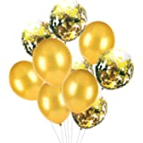 HOUZE LS-9486 Balloons (Set of 10) - Gold with Glitters