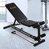 Everfit Weight FID Bench Adjustable Home Workouts Bench Press 150KG Capacity Sit-up Flat Incline Decline Gym Fitness Versatil