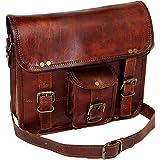 """11"""" Small Leather Messenger Bag Shoulder Bag Cross Body Vintage Messenger Bag for Women & Men Satchel Man Purse competible wi"""
