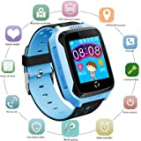 Kids GPS Smart Watch for Students - Boys Girls Smartwatch Phone with GPS Locator 2 Way Calls SOS Camera Voice Chat Math Game