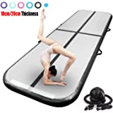 Air Track Gymnastics Mat 3,4,5,6,7,8m Length 10/20cm Thick Inflatable Air Track Tumbling Mat Tumble Floor Mats with Electric