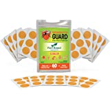 Mosquito Guard Repellent Stickers/Patches for Kids (60 Pack) Made with Natural Plant Based Ingredients - Citronella, Lemongra