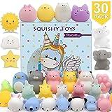 Mochi Squishy Animals 30PCS Soft Squishy Stress Animal Toys Kawaii Animal Squishy Mini Cat Squishies Toy Mini Seal Rabbit Moc